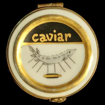 Vintage Limoges Porcelain Caviar Box / Dish