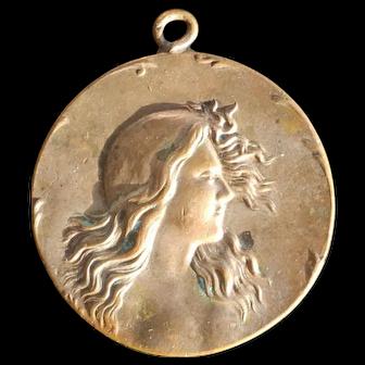 Antique 'Tourist Automobile Los Angeles' Bronze Advertizing Medallion