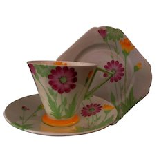 "Art Deco Shelley Eve "" Daisy's"" Tea Trio"