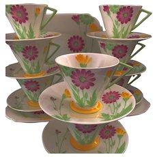 "Art Deco Shelley Eve "" Daisy's"" Complete Tea Set for 8"