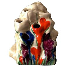 "Art Deco Original Clarice Cliff ""Crocus"" Frog/Flower Holder"