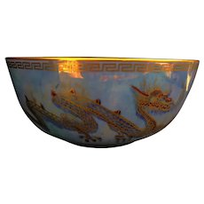 "A Daisy Makeig Jones fairyland lustre ""Dragons"" bowl,"