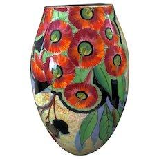 "An Art Deco Carlton Ware ""gumtree"" 26 cm Vase"