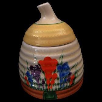 An Original Art Deco Clarice Cliff Bee Hive Honey Pot