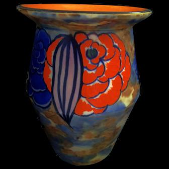 "An Original Art Deco John Butler ""Begonia"" 20 cm Vase"