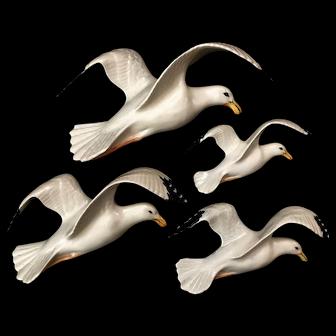 Beswick set of 4 original flying Seagulls