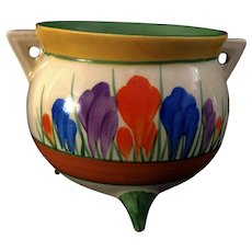 "An Art Deco original clarice cliff ""crocus"" cauldron"