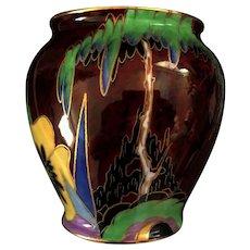 """carlton ware Art Deco """"Prickly Pansy"""" 11.5 cm vase"""