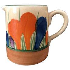 """Clarice Cliff Hand Painted Art Deco Original """"Autumn Crocus"""" Tankard Milk Jug"""