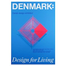 POSTER - DENMARK - Design for living - 1989 exhibition poster