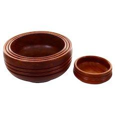 TEAK BOWL SET 1960s teak bowls. Danish vintage design. Two beautiful Danish mid-century modern teak serving bowl for snacks, nuts or fruits