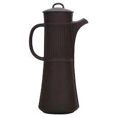 FLAMESTONE COFFEE POT by Quistgaard Dansk Designs 1958. Gorgeous tall fluted dark stoneware coffee pot - vintage edition!