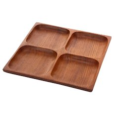 TEAK TRAY 1960s Danish vintage serving bowl