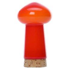 PALET orange salt shaker by Michael Bang for Holmegaard in 1969. Danish Modern glassware design.