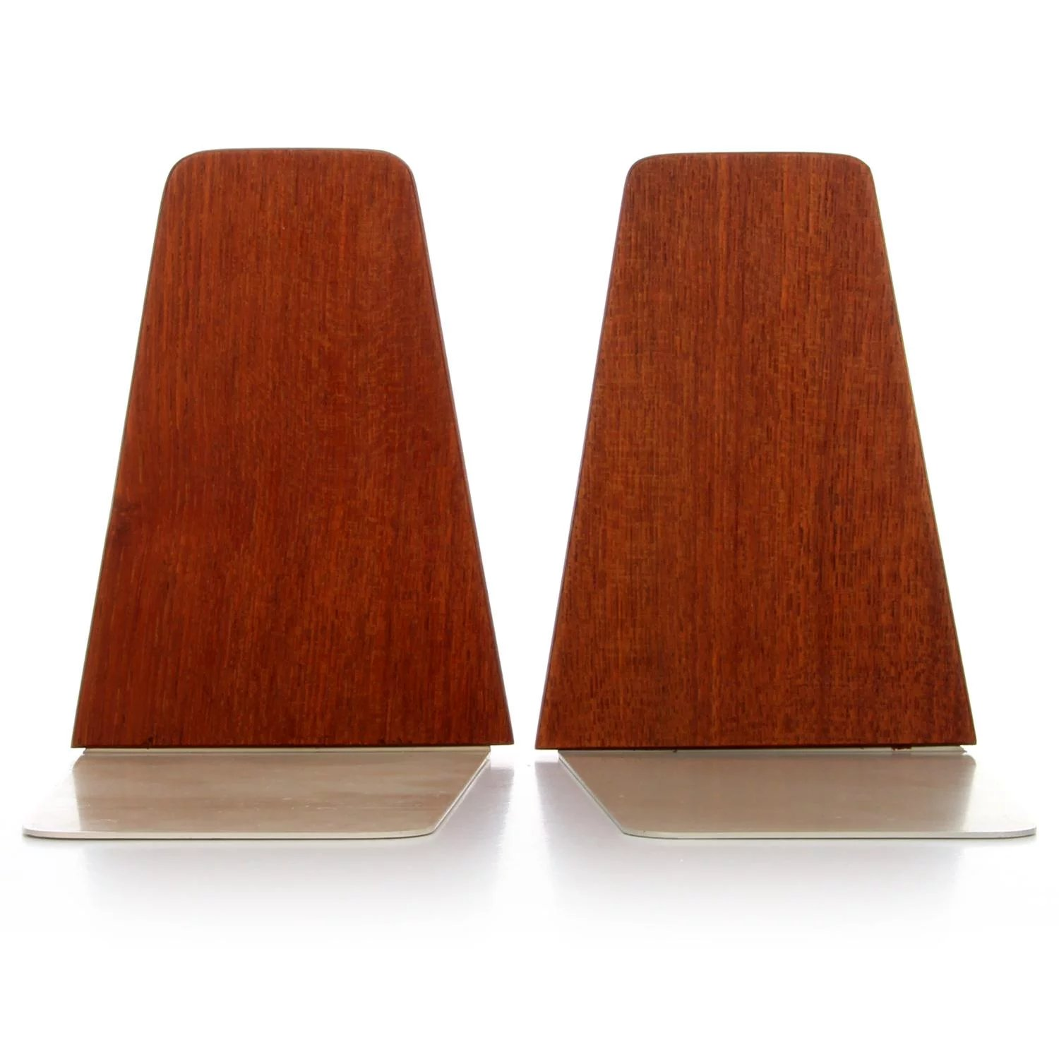 a9a9f91e427c TEAK BOOKENDS PAIR - Danish mid century modern bookends with steel ...