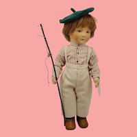 """1981 R. John Wright """"Tad"""" Little Children Felt Doll"""