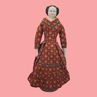 "15"" All Original Antique China Head Doll"