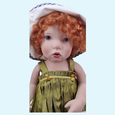 "16"" Porcelain Ruby Doll by Artist Verena Eising"