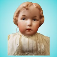 "10"" Antique German Gebruder Heubach Pouty Girl Doll Intaglio Eyes #8647"