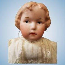 "10"" Antique German Gebruder Heubach Pouty Girl Doll Intaglio Eyes #8647"