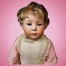 "Beautiful 16"" Antique German Heubach #6969 Pouty w/Glass Sleep Eyes Doll"