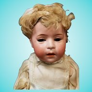 "10"" Antique German Swaine & Co DIP 2 Baby w/Original Mohair Wig Doll"