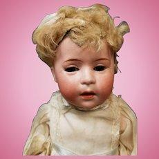 "10"" Antique German Swaine & Co DIP 2 Baby w/Original Mohair Wig Doll"