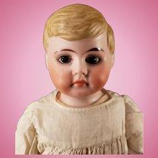 "13"" Handsome ""American Schoolboy"" Antique German Bisque Doll"