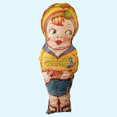 Bobby Shaftoe Vintage Printed Oil Cloth Nursery Rhyme Doll