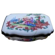 Antique Sevres French Enameled Porcelain Trinket Patch Box