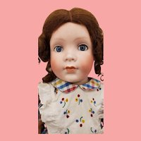 """18"""" Antique Bisque Grace Corry Rockwell #1392 Doll"""