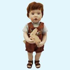 """11.5"""" Artist Beatrice Perini Bisque Serofino Boy Doll"""