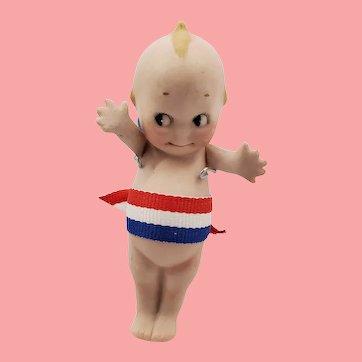 "4"" Antique All Bisque German Rose O'Neil Kewpie Doll"