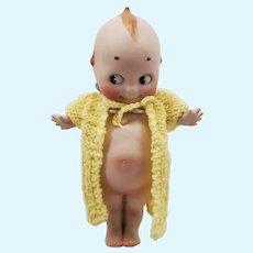 "Large 7"" All Bisque German Rose O'Neil Kewpie Doll"