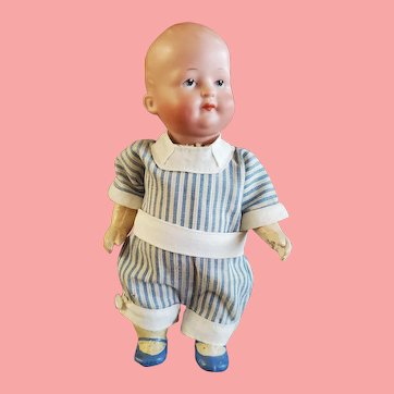"""7"""" Antique Ernst Heubach Serious Character Boy Doll"""