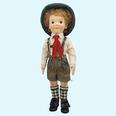 2008 R. JOHN WRIGHT Mathias Steiff Kinder Boy Doll