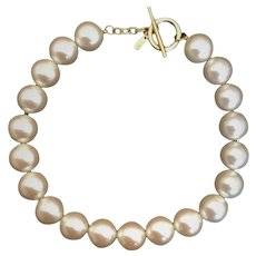 Vintage Alfred Sung, Opalescent Imitation Pearls Choker