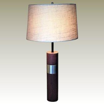 Vintage Mid-Century Modern, Danish Teak Table Lamp