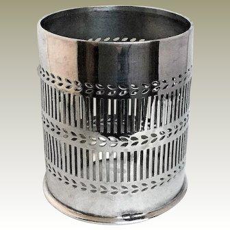1886-1900 Cross Arrows, WH,  Scheffield Silver Plated Holloware Wine Bottle/Basket