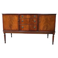 Mid Century English Greaves & Thomas Mahogany Sideboard Or Buffet
