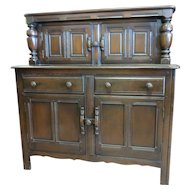 English Dark Oak Court Cupboard