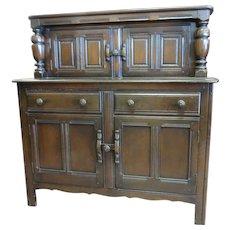English Dark Oak Court Cupboard