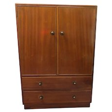 English Mahogany Two Over Two Tall Boy Chest And Cabinet