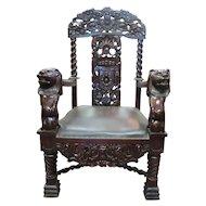 Large Vintage Throne Or Wedding Chair