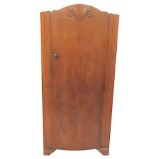 Imported English Lebus Furniture Child's Wardrobe Or Armoire