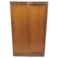 Mid Century English Austinsuite Of London Large Teak Double Door Wardrobe
