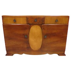 Mid Century English Unusual Multi-Tone Buffet Or Sideboard
