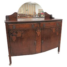 Mirrored Buffet Or Sideboard With Grape Accents