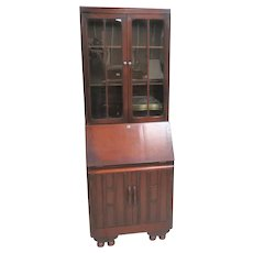 Imported English Secretary Desk With Bookcase Top 1936