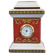 Rosenthal Versace Medusa-vintage porcelain table clock